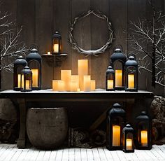 Indoor/Outdoor Flameless Candles...good for the front steps and porch, and/or indoors with kids (no fire hazard)