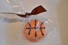 Dozen Chocolate Covered Oreo - Basket Ball Favor - Sports Favors