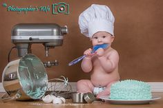 Baby chef photo!  Great idea as a smash cake session.