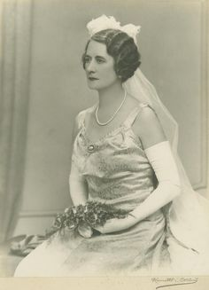 Sybil Lavarack in court dress, 1939