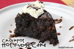 Hot Fudge Cake... Crockpot Desserts
