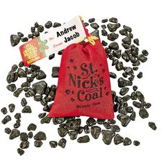 St. Nick's Coal Bubble Gum - OrientalTrading.com