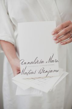calligraphy invitations. photo by kate macpherson.