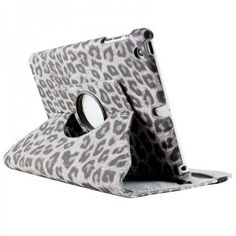 fashion, ipad cover, ipad mini, grey, buttons, mini case, accessories, leopard, 360rotat leather