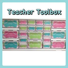 FREE labels for a Teacher Toolbox