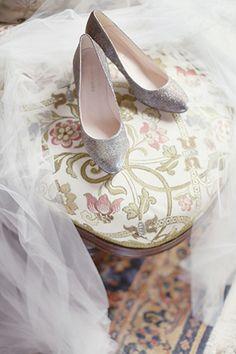 sparkly bridal shoes | onefabday.com
