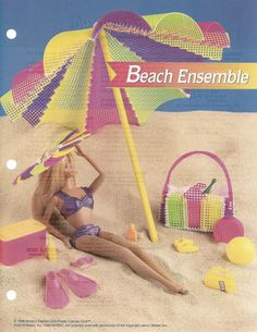 Beach Ensemble Fashion Doll Furniture by needlecraftsupershop, $2.95