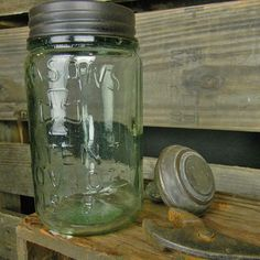 Such a cool vintage and rustic look! These Mason Jars were inspired by the jars from the old days... #masonjars #vintagedecor #rusticdecor