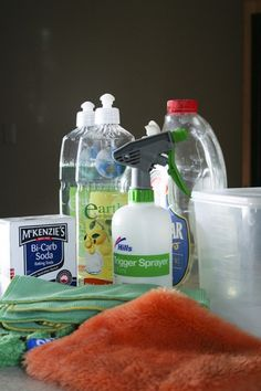 Recipes to make your own green cleaning products
