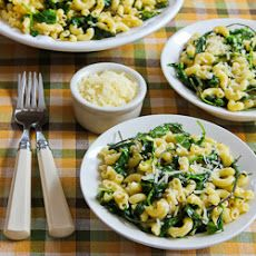 Macaroni with Greens, Lemon, and Parmesan Ingredients 2 cups macaroni ...