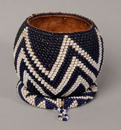 Africa | A Nguni beaded Gourd and Ring