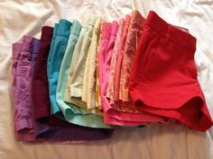 rainbow of shorts