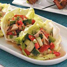 Asian Chicken Salad Lettuce Cups Recipe