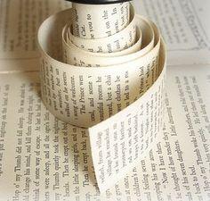 Handmade vintage book ribbon