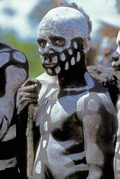 Papua New Guinea | 'Skeleton Boy' at the Mt. Hagen Cultural Show, Western Highlands Province | ©Mark Johnson