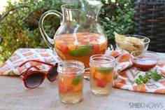 Celebrate summer solstice with this Summer Melon Sangria recipe