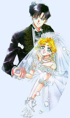 sailor moon and tuxedo mask wedding manga  sailor moon and tuxedo ...