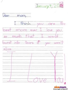 Real Letters From Kids... thanks, we think?