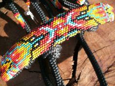 Beaded Rope Halter Beaded Horse Tack  Halter by HorsetailsBeadwork,