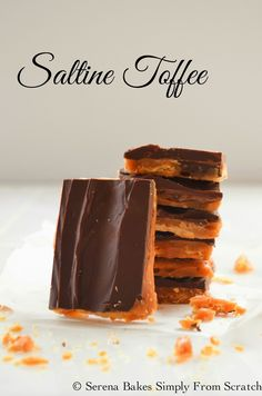 Saltine Toffee lighter and crispier than traditional toffee. So good!