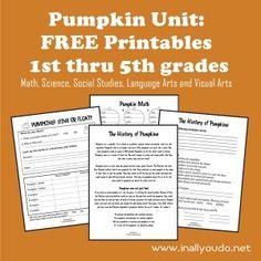 pumpkin unit, printabl