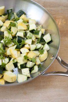 Clean Eating Recipes | Clean Eating Skillet Summer Squash Scramble