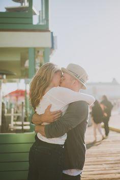 beach engagement, engagement pictures, monica, engagement photos, pier, engagement photography, engagement shoots, engag pictur, california wedding