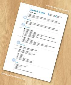 Free InDesign resume cv template 3