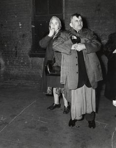 Tenement Fire, 1945. By Weegee.