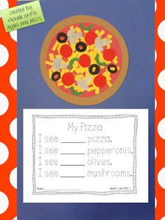 Pizza craftivity. Counting for math and reading sight words.