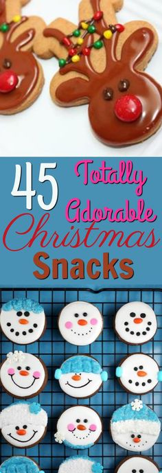 These 45 adorable Christmas Snacks will get you and everyone you share them with into the holiday spirit! So try one of these DIY Christmas recipes today! #christmas #diychristmas #holidays #diyholidayideas #diychristmasideas #diychristmasdecor #diychristmasgiftideas #christmascrafts #christmaskidcrafts #diygiftideas #christmasdiy #christmascrafts #diychristmasideas #christmasrecipes #christmasfood