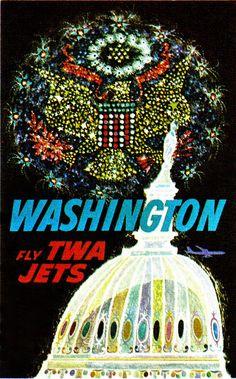 Washington, DC, TWA Poster
