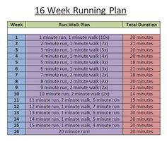 Simple 16 week running plan
