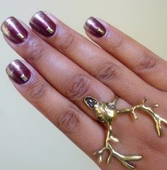 Dark Pearly Cooper : Autumn Nails