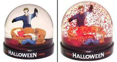 Halloween snow globe.  So wrong, but still pretty clever.