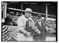 The Other Side of the Camera, 1911: Herman A. 'Germany' Schaefer, an infielder who played for the Washington Senators by Bain News Service via The Library of Congress via Flickr. The camera is a 5 x 7 Press Graflex. #Baseball #Germany_Schafer #Bain_News_Service #The_Library_of_Congress #Flickr #Graflex