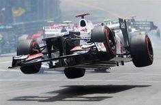 The flying Japanese (Kobayashi Kamui, 2012 Monaco GP)