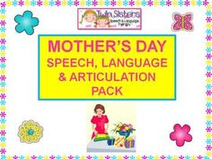 Download Preview (bottom right) Packet for a few free pages of this Mother's Day Speech, Language, and Articulation Therapy Packet - - Pinned by @PediaStaff – Please Visit  ht.ly/63sNt for all our pediatric therapy pins