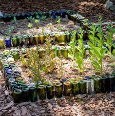 Reuse Wine Bottles as Garden Edging on Lifehacker from Readymade