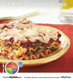 Baked Vegetable Lasagna #Letsmove #MyPlate #Pasta #Vegetables