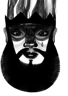 Dignity  A4 print illustration artwork art man by Henneberg, $22.00