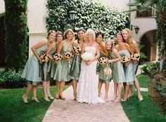 Sage bridesmaids dresses