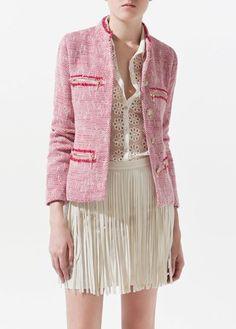 Zara tweed blazer, £69.99