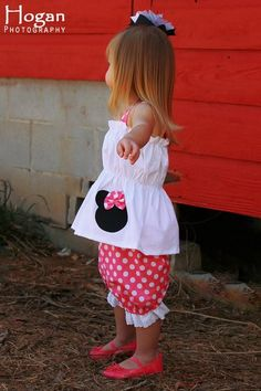 Custom Boutique Clothing Minnie Mouse Bloomers and Top by amacim, $35.00