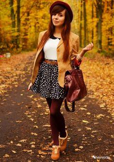 Hearts Print Cotton Skirt - Ropa de moda de mujeres en Sheinside.com