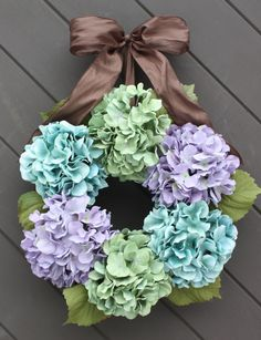 Spring Wreath Hydrangea Wreath Easter by TheTangledTreehouse, $87.00