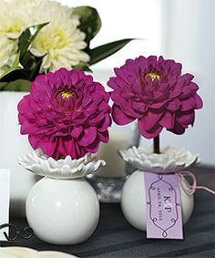 Pretty Petals Mini Porcelain Vase - Great to use as table decorations and favors