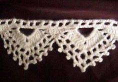Free Crochet Pattern: Picot and Lace Edging--perfect shelf trim
