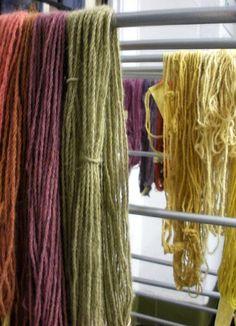 Natural dyed yarns