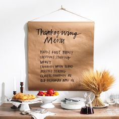 butcher paper menu